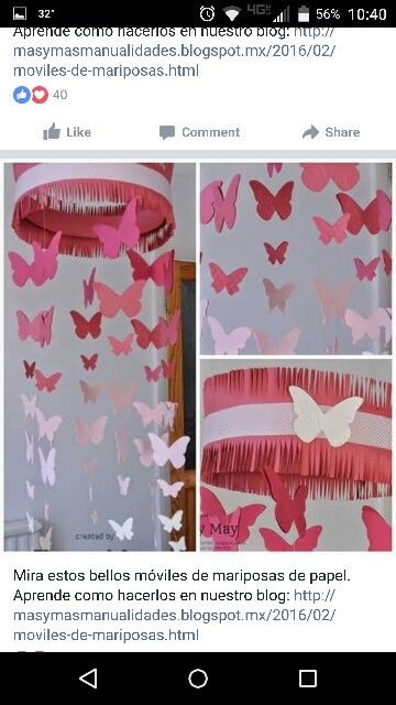 Pink ceiling craft