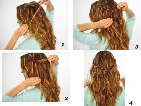 Peinados Bonitos, Peinados Bodas, Cabello Rizado, Pelo Suelto, Ondas Diy, Hairstyle Ondas, Paso Faciles, Faciles Buscar, Cosas