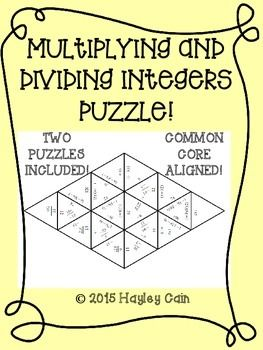 math worksheet : integers small group activities and puzzles on pinterest : Multiplication And Division Of Integers Worksheets