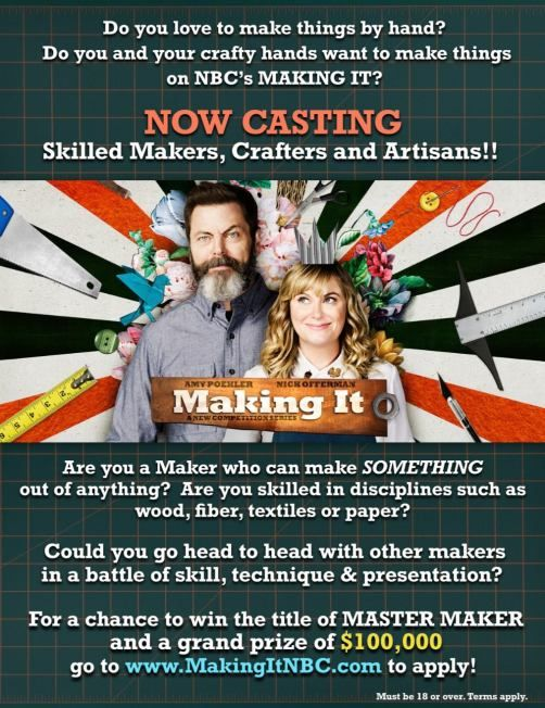 Making It Casting Call For Nbc It Cast Casting Call How To Make