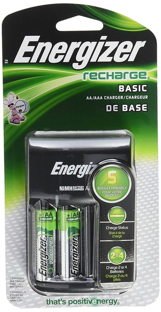 Energizer Wall Outlet Battery Charger W Rechargeable Aa Aaa Nimh Batteries Energizer Rechargeable Batteries Rechargeable Battery Charger Nimh Battery