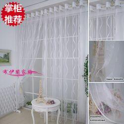Bon marché! Jacquard blanc légerfonction pure rideau design