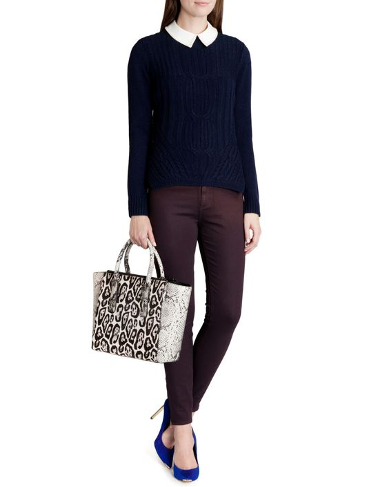 Cable knit sweater - Blue | Outlet | Ted Baker UK