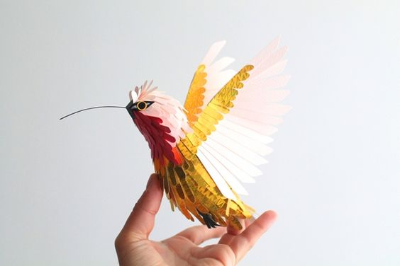 Lampornis amethystinus - Paper Sculpture
