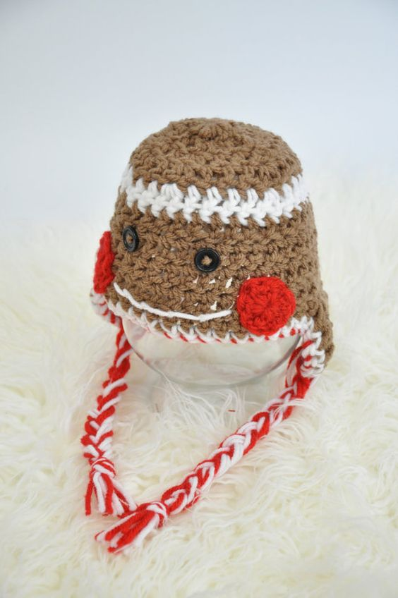 Gingerbread Man Hat by JLloPhotographyProps on Etsy, $20.00