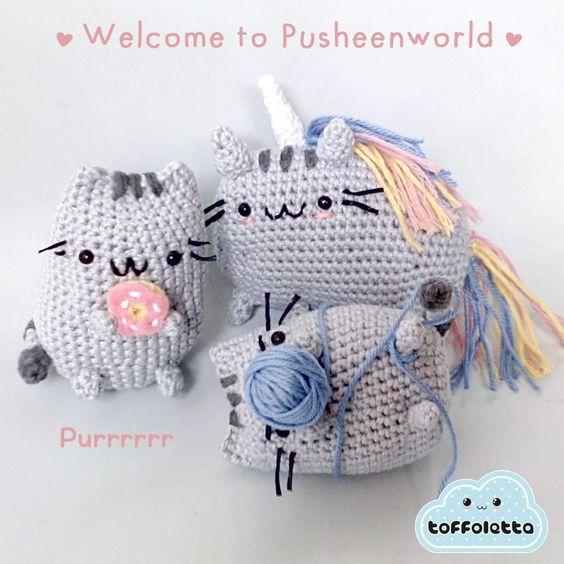 Pusheen Amigurumi Free Pattern : Welcome to Pusheenworld!! Purrrr.... Pusheen the cat cute ...