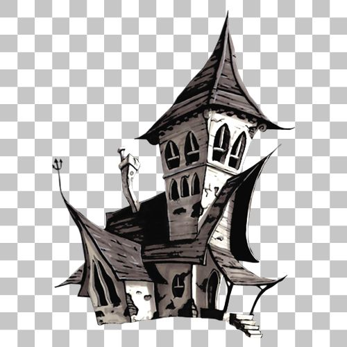 Haunted House Png Image With Transparent Background Png Images Haunted House Stock Images Free