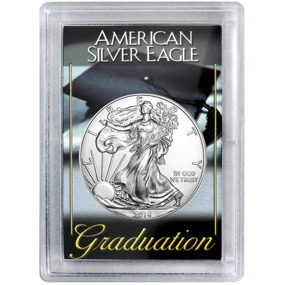SilverTowne - 2016 Silver American Eagle H.E. Harris Graduation Case BU