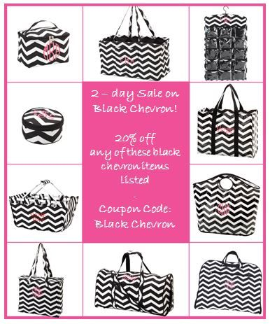 20% off all Black Chevron items seen in this pic!  Coupon Code:  Black Chevron Visit http://www.crazyforweddings.com/category_55/Personalized-Gifts.htm