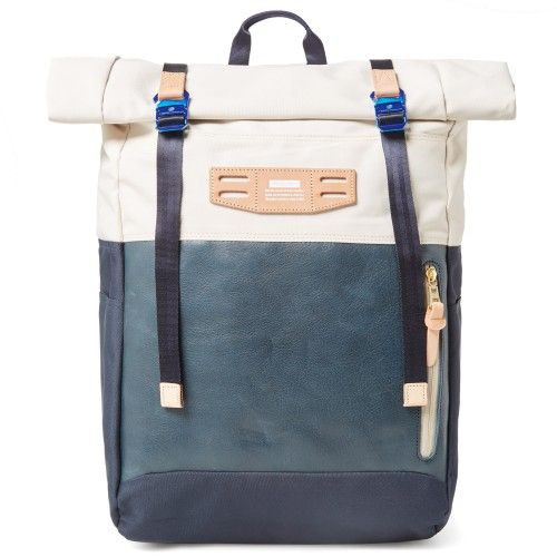 Master-Piece Hedge Roll Top Backpack (Ivory)