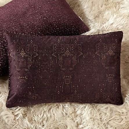 Tapete Plum Chloe Velvet Rectangle Pillow | Arhaus Furniture: