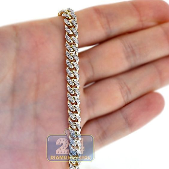 Mens Diamond Miami Cuban Link Chain 10k Yellow Gold 7mm 28 Gold Chains For Men Chains For Men Mens Chain Necklace