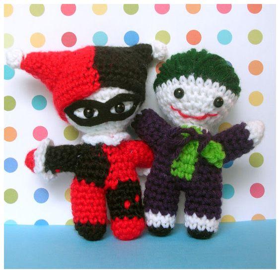 Amigurumi Harley Quinn : Harley Quinn and Joker Amigurumi - CROCHET Amigurumi ...