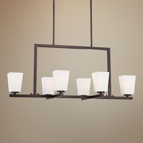"""City Square Collection 36"""" Wide Island Light Chandelier  by Minka Lavery   Lamps Plus"""