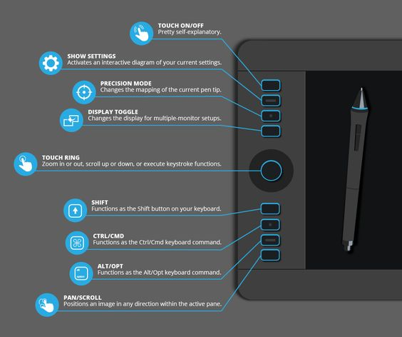 Infographic: The Buttons on the Wacom Intuos Pro Tablet Explained | explora