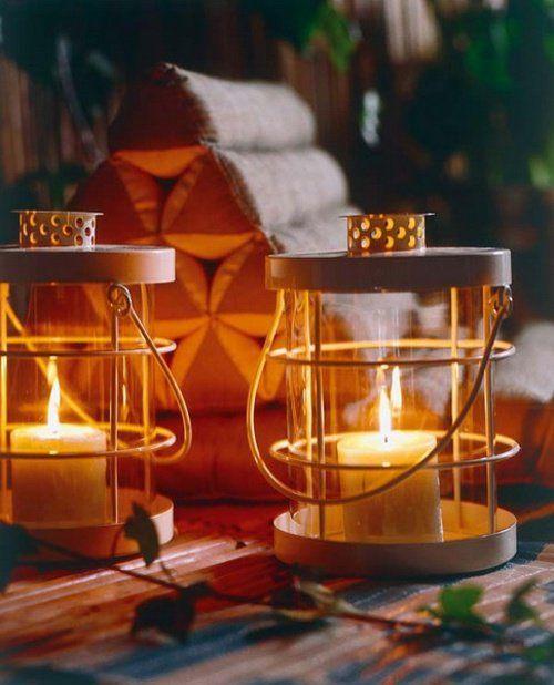 des lampes déco comme bricolage facile avec des bougies