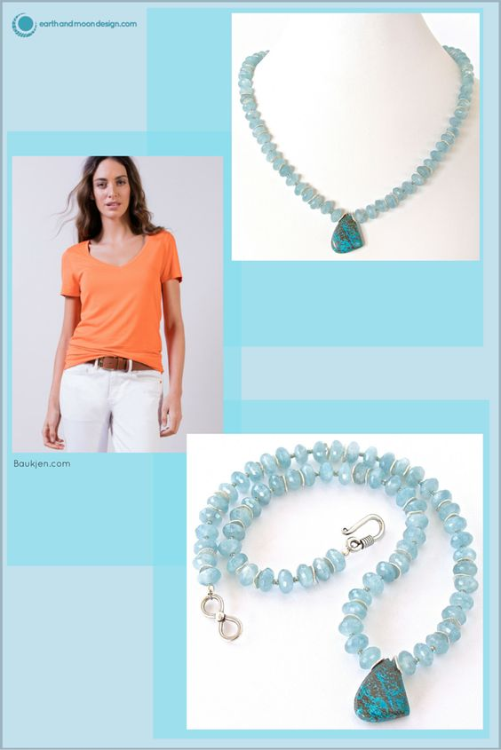 Ready for a beach escape? This handmade collar necklace of beautiful gemstones evokes the endless ocean:https://earthandmoondesign.com/products/sargasso-blue-calcite-necklace