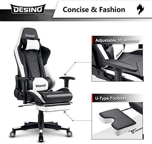 Desino Gaming Chair Racing Style High Back Computer Chair Swivel