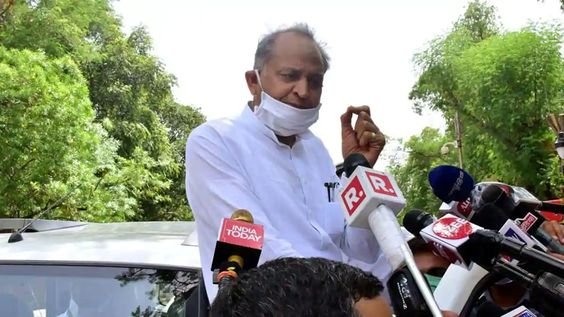 Rajasthan Crisis : Congress MLAs on Protest at Raj Governer House