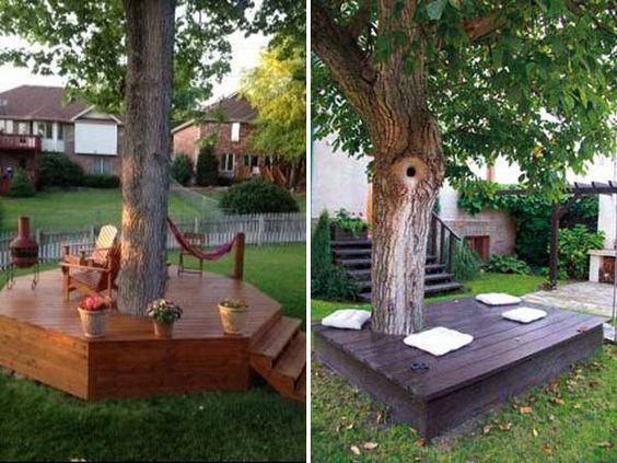 Amazing Landscaping Around Trees Awesome Ideas For Your Garden Creativecarmelina Interior Chair Design Creativecarmelinacom