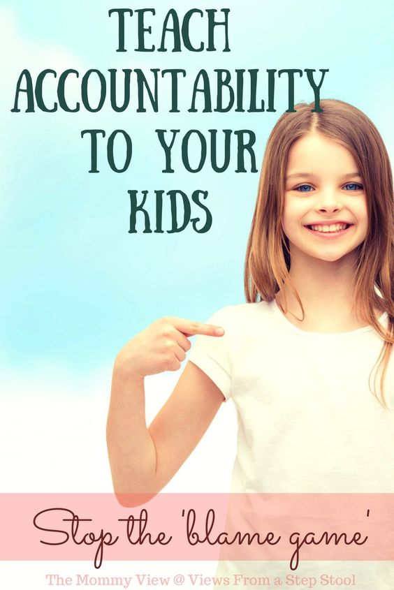 You can teach your kids accountability by making it the norm in your household…