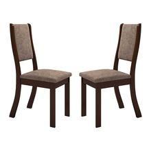 Kit com 2 Cadeiras Kiara Chocolate e Canela Viero Móveis walmart 189,99 ou 2x95,00