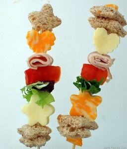 lunch ideas for kids: Lunch Kabob, Sandwich Kabob, School Lunch, Food Idea, Kid Lunch, Party Idea, Kids Lunch