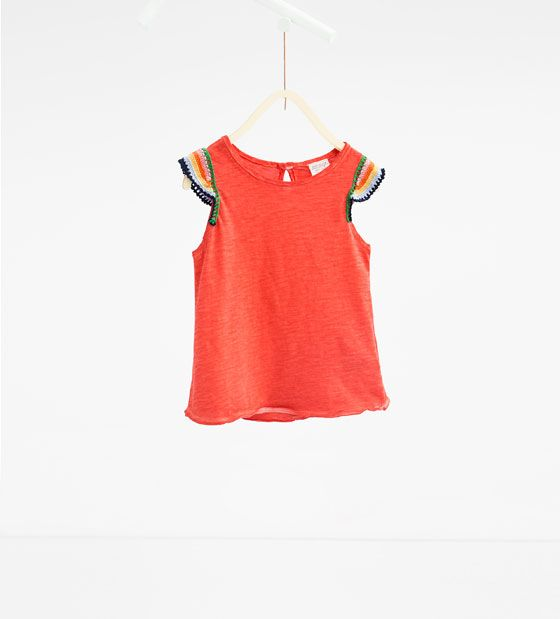 Image 1 of Crochet T-shirt from Zara