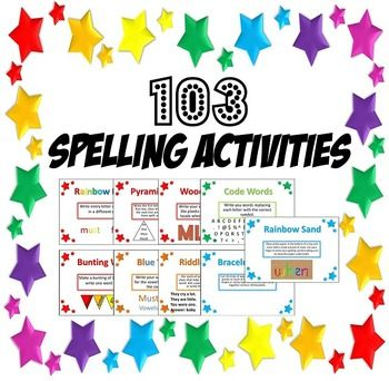 103 Spelling Activities- Task Cards and PowerPoint