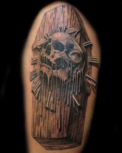 Coffin Tattoo Meaning : coffin, tattoo, meaning, Coffin, Tattoos, Surprisingly, Creative, Meanings, TattoosWin, Tattoo,, Meaning,
