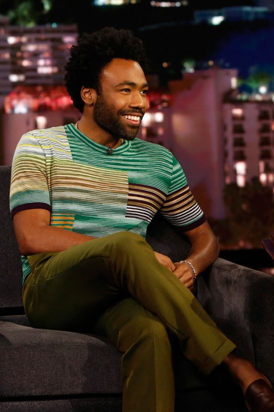 Donald Glover In Missoni On Jimmy Kimmel Live Donald Glover