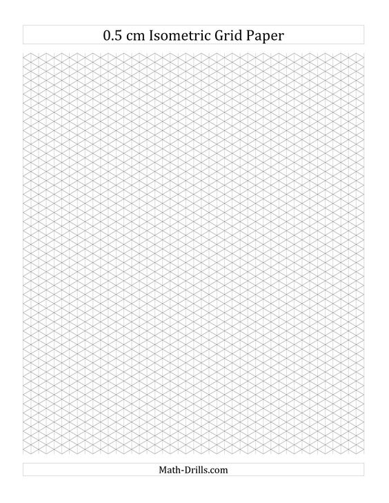 Printable Isometric Graph Paper Grid Isometric Paper Isometric Grid Isometric Graph Paper