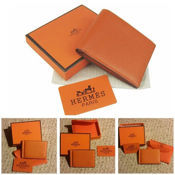 hermes style handbags - Hermes Leather Copernic Orange Money Clip Wallet | Products ...