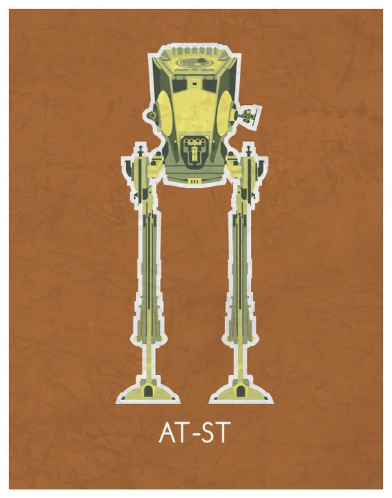 Minimal Star-Wars Vehicle Art