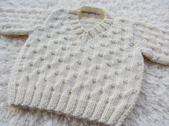Hand Knit Bamboo Baby Sweater by jayceeoriginals on Etsy