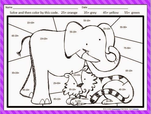 FREE Adding and subtracting multiples of ten: color by the code ...