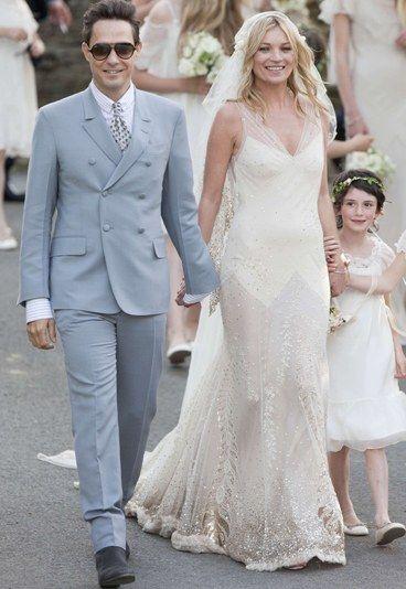 de mariée : La robe de mariée bohème de Kate Moss - Kate Moss style ...