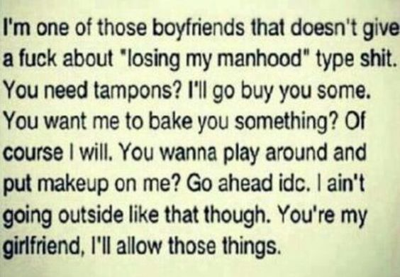 You need tampons?