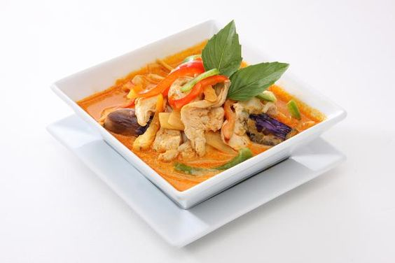 Thai rotes Hähnchencurry