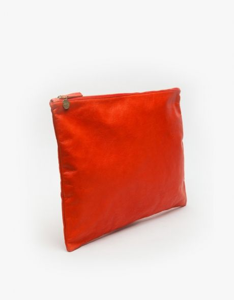 Laptop/Oversized Clutch in Persimmon