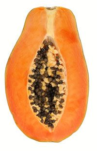 Papaya for Healthy Hair  How to use a raw papaya treatment for soft and shiny hair. http://www.naturallycurly.com/curlreading/ingredients/papaya-for-healthy-hair