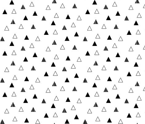 Cheeky Triangles - Black on White fabric by cavutoodesigns on Spoonflower - custom fabric