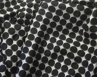 Black & White Polka Dots - 8mm Silk Habotai (1/3 Yard)