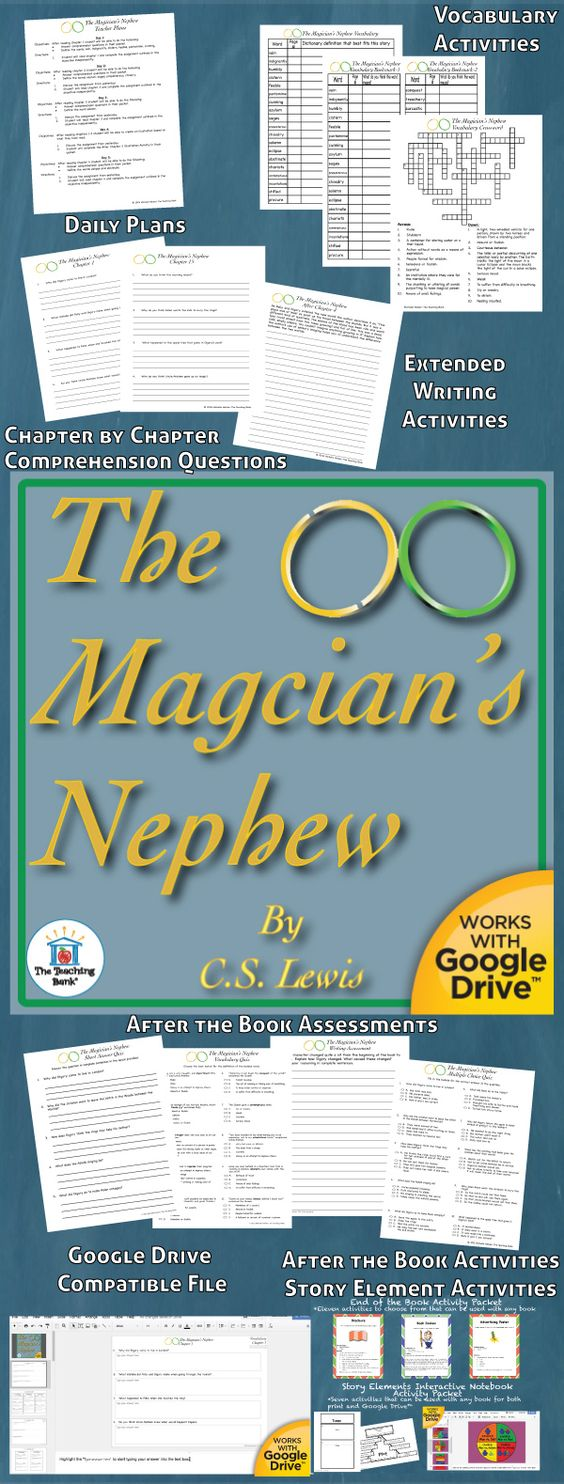 The Magician's Nephew Novel Study Is Amon Core Standard Aligned Book Unit  To Be Used