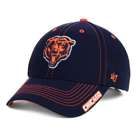 Mens Chicago Bears New Era Navy Blue On-Field Tech Sideline Cuffed Knit Hat
