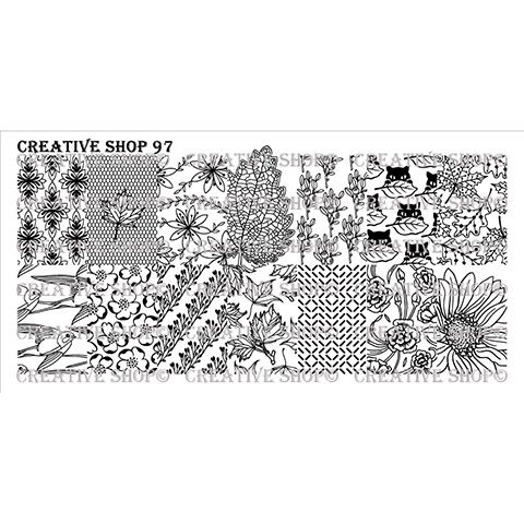 Creative Shop- Stamping Plate- 97