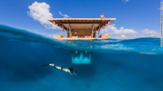 Sleeping with the fish: Underwater hotel room opens on remote African island