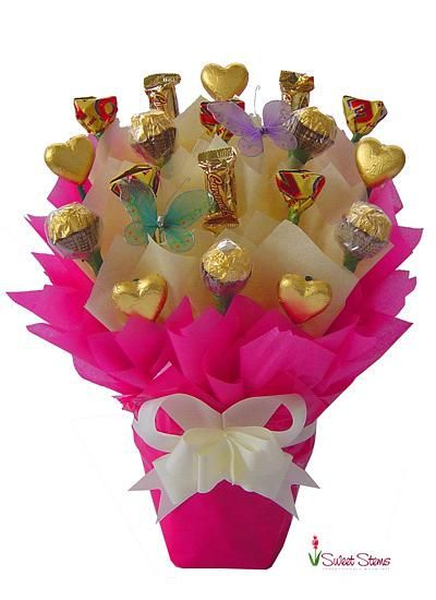 Flower Gift Baskets Melbourne : Tickled pink chocolate bouquet florist sydney melbourne