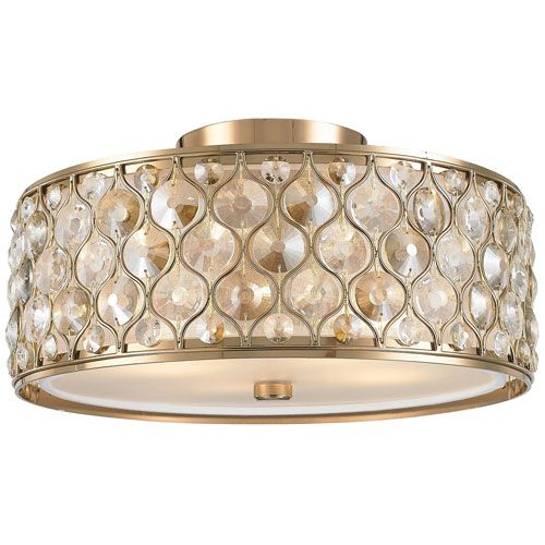 Vivian Champagne Four Light Flush Mount