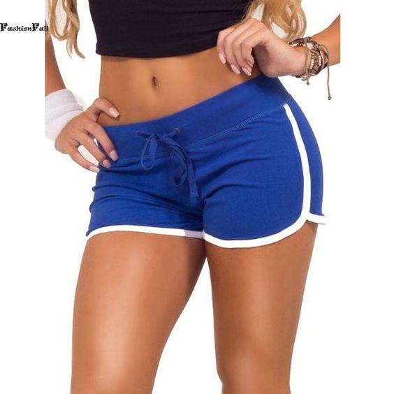 Sport Shorts Soft Casual Cotton Side Split Elastic Waist Short Workout Running Shorts